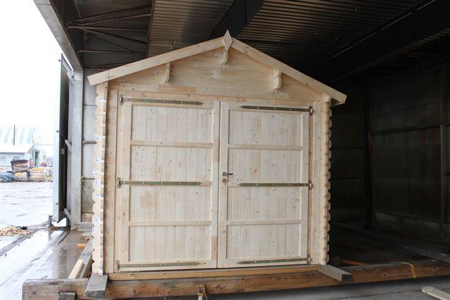 autogarage kaufen garage mit holztor sams gartenhaus shop. Black Bedroom Furniture Sets. Home Design Ideas