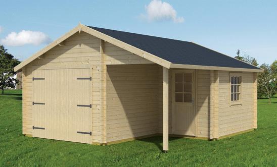 carport holzgarage mit schwingtor sams gartenhaus shop. Black Bedroom Furniture Sets. Home Design Ideas