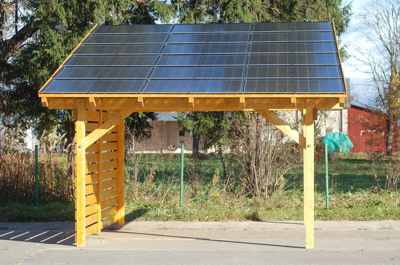 carport photovoltaikanlage kaufen sams gartenhaus shop. Black Bedroom Furniture Sets. Home Design Ideas