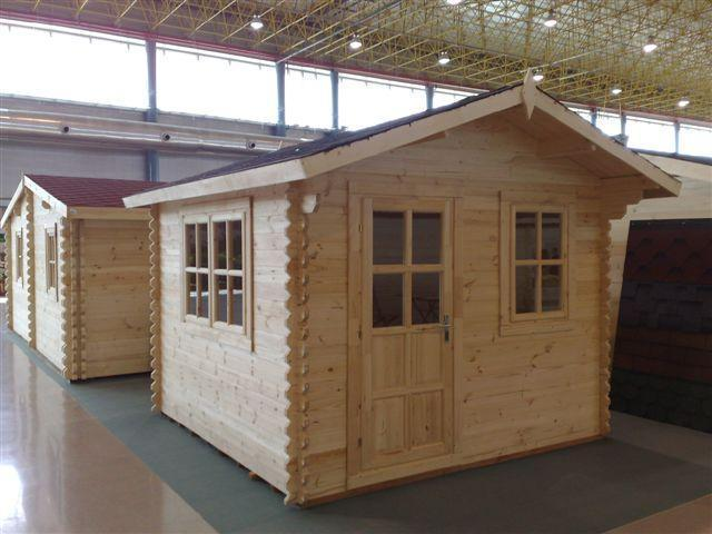garden house 34 mm Luckau 3x3m   Garden House wood Shop