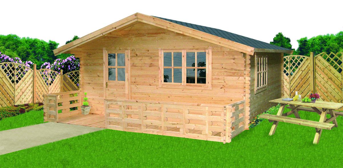 garden house 34 mm Luckau 4x4m   Garden House wood Shop