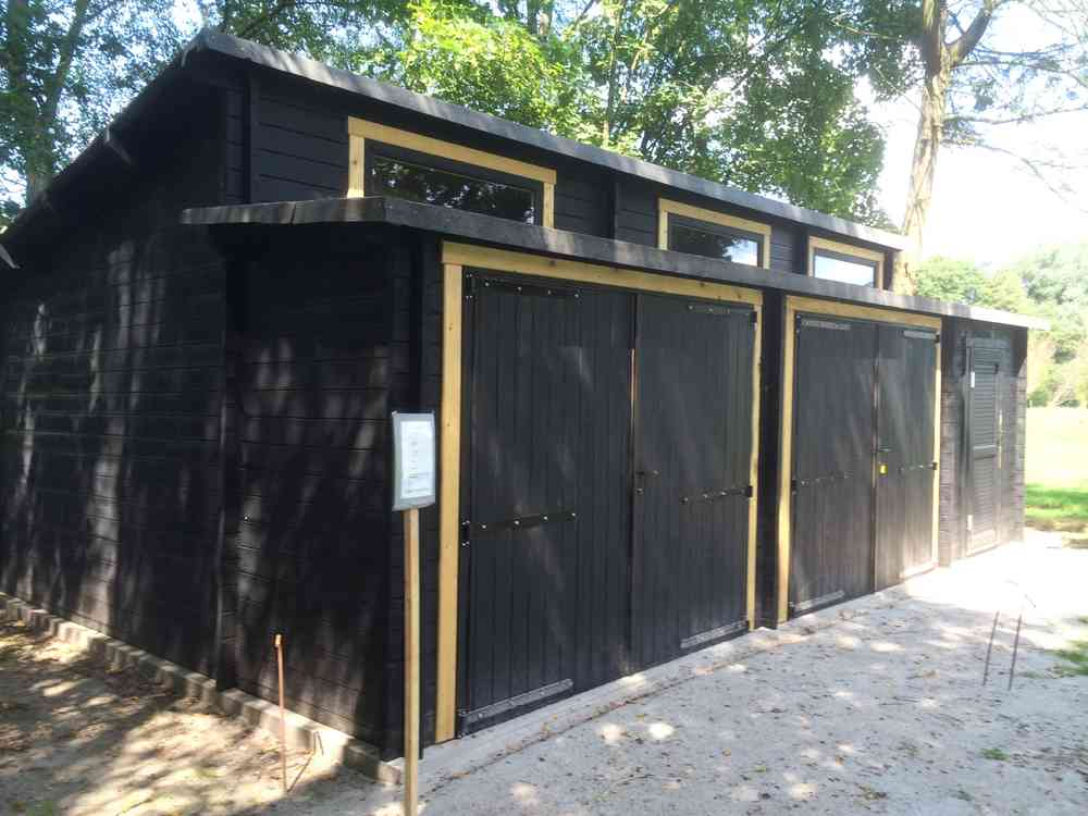 Doppelgarage modern holz  Garagen bauen Holzgaragen planen - Sams Gartenhaus Shop