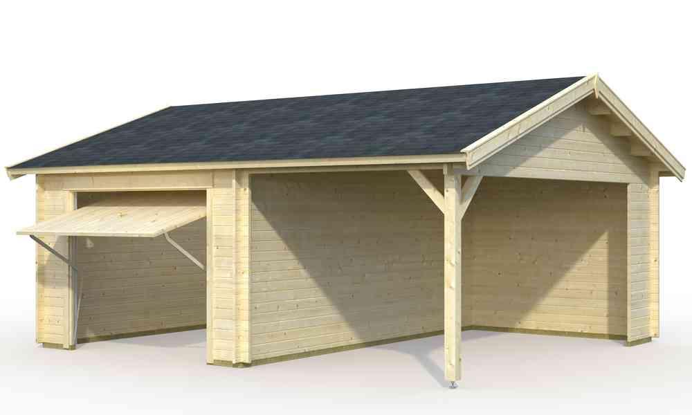 Einzelgarage carport mit schwingtor sams gartenhaus shop