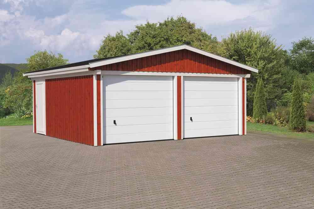 Holzgarage Falco 2 Dl Farbe Sams Gartenhaus Holz Shop