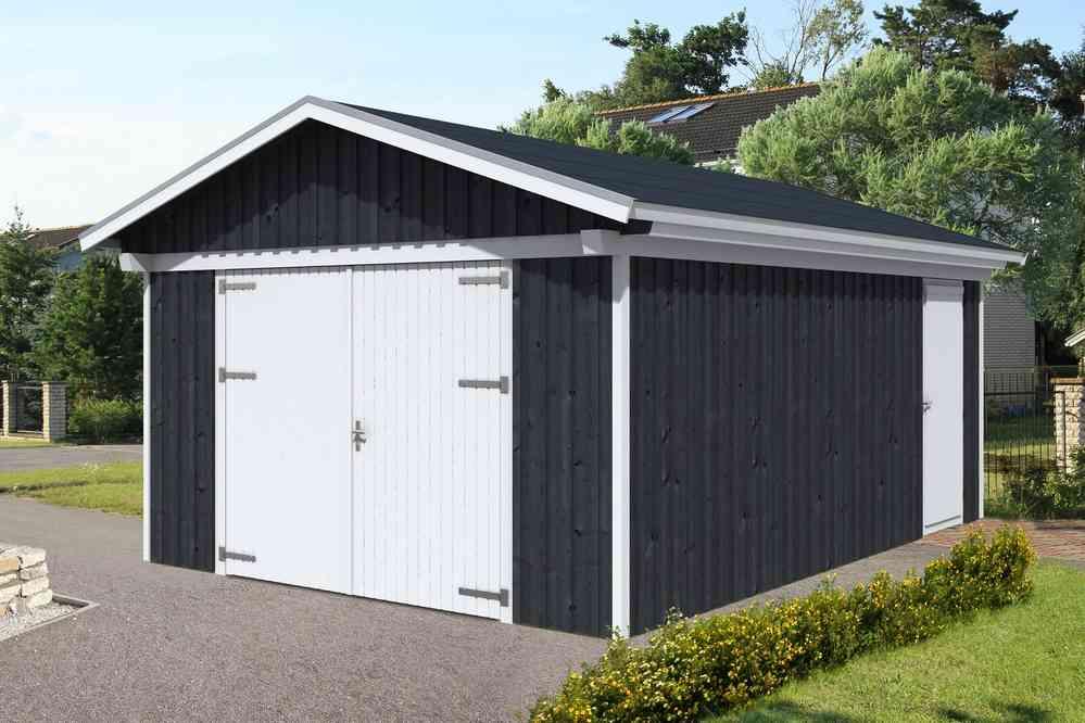 Holzgarage Falco 1 Ds Farbe Sams Gartenhaus Holz Shop
